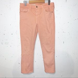 Pilcro and the Letterpress Cropped Peach Jeans